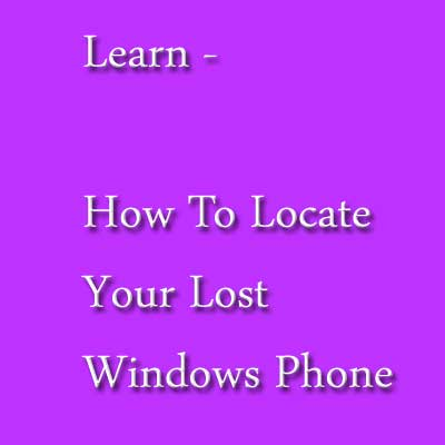 Localize Windows Phone perdida