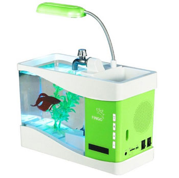 Falante estéreo Fascinations LED Aquarium Handsfree sem fio Bluetooth
