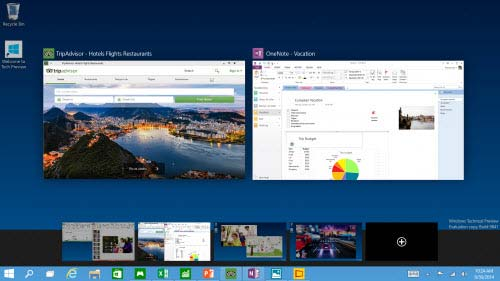 Windows 10 desktop múltipla