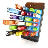 12376555-smartphone-apps-touchscreen-smartphone-with-application-software-icons-extruding-from-the-screen-iso