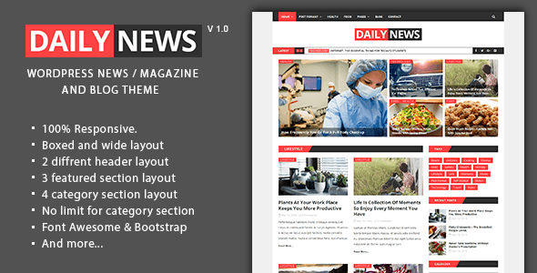 Daily News Tema WordPress